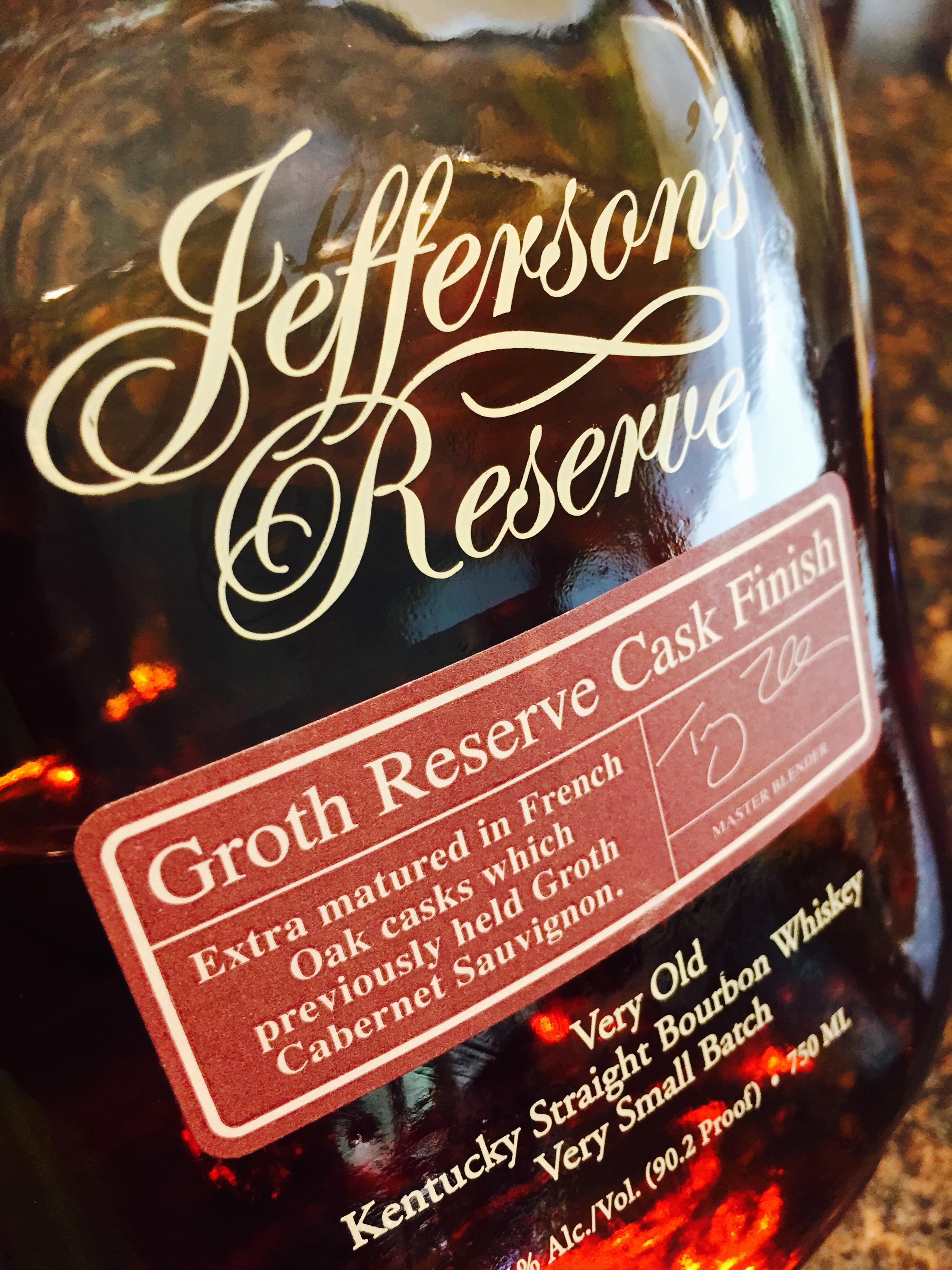 Jefferson's Reserve Groth Cask